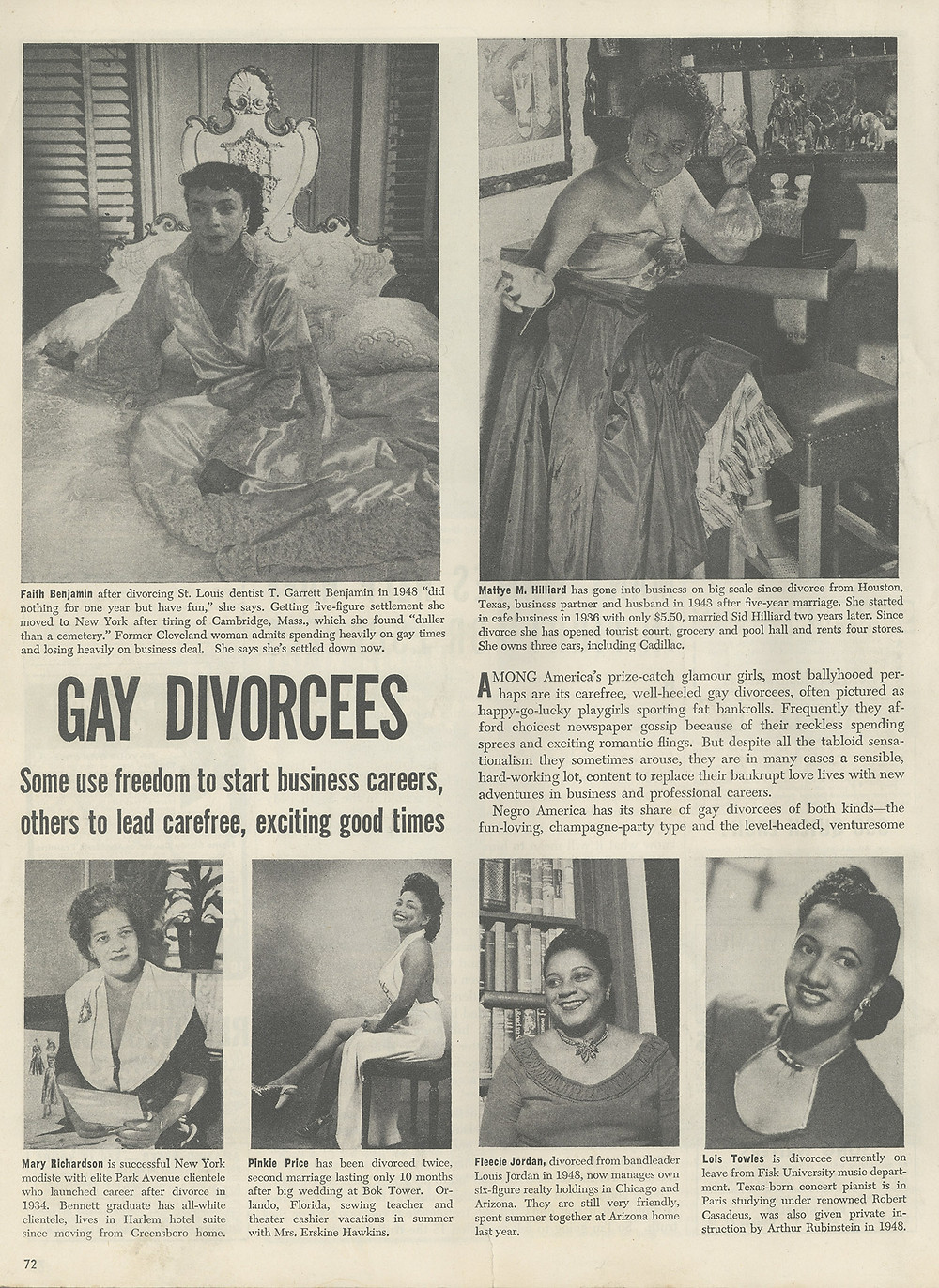 Article from the February 1950 issue of Ebony Magazine
