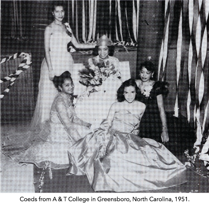 Coeds from A & T College in Greensboro, North Carolina, 1951.