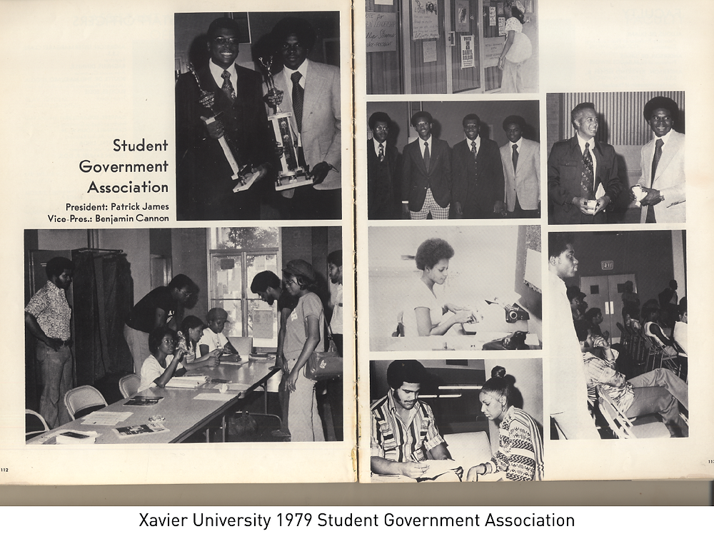 Xavier University 1979 Student Government Association