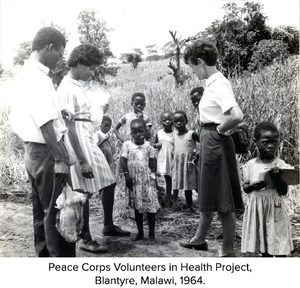 Peace Corps Volunteers in Health Project, Blantyre, Malawi, 1964.