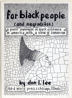 Front cover of Don Lee's poetry collection 'For Black People (And Negroes Too)'.