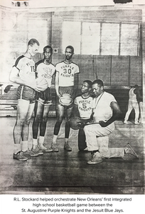 R.L. Stockard helped orchestrate New Orleans' first integrated high school basketball game between the St. Augustine Purple Knights and the Jesuit Blue Jays.