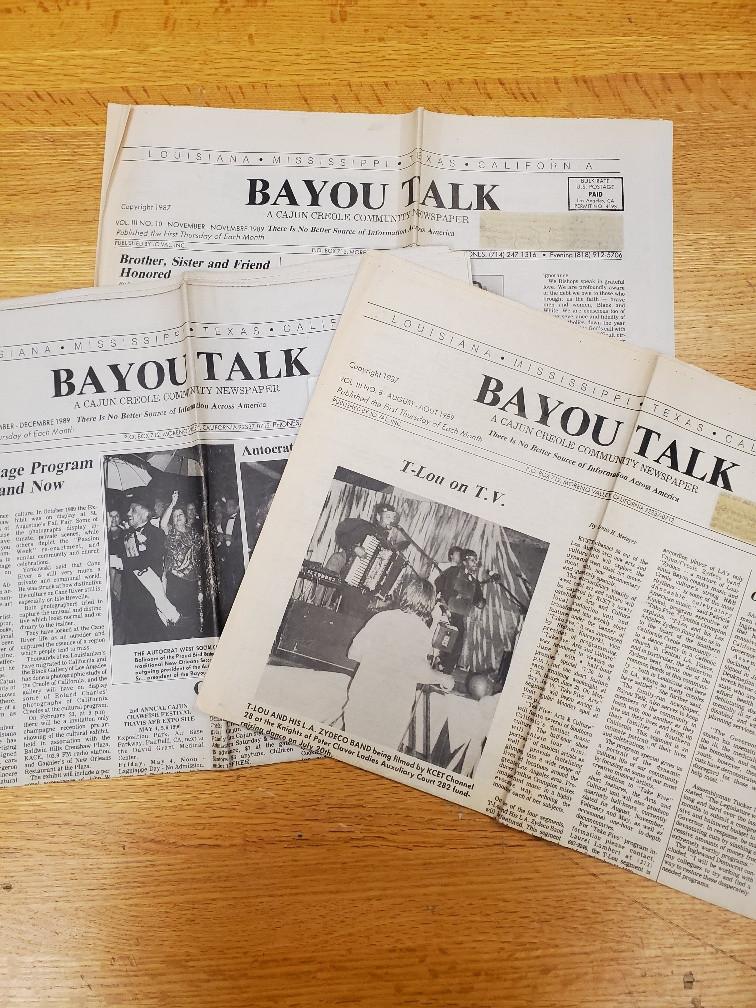 Issues of Bayou Talk newspaper.