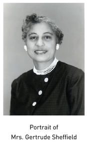 Portrait of Mrs. Gertrude Sheffield