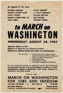 March on Washington flyer