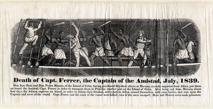 """""""Death of Capt. Ferrer, the Captain of hte Amistad, July, 1839."""""""