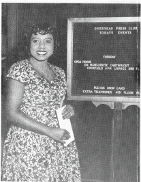 Dr. Marguerite Cartwright hosting an Open House for the Overseas Press Club