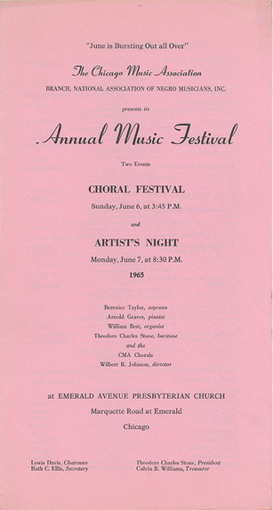The CMA Experience: Highlighting the Chicago Music Association Collection at Amistad