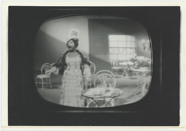 """Annabelle Bernard performing """"Musette"""" in La Boheme on television, 1965."""