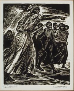 'Harriet', Linocut, 1953.