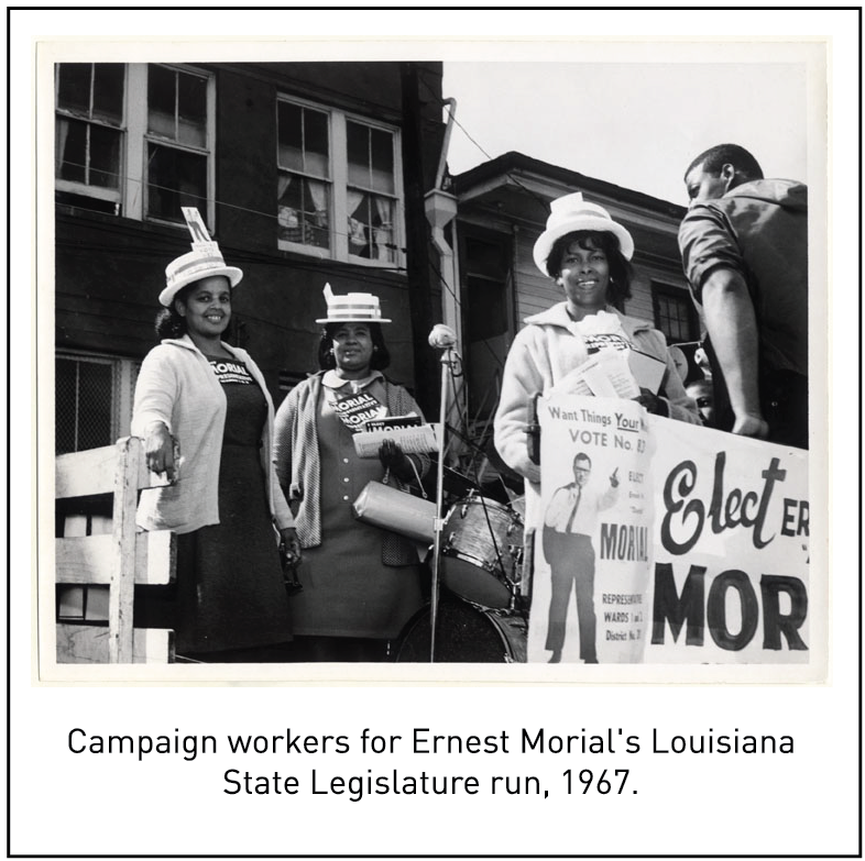 Campaign workers for Ernest Morial's Louisiana State Legislature run, 1967.