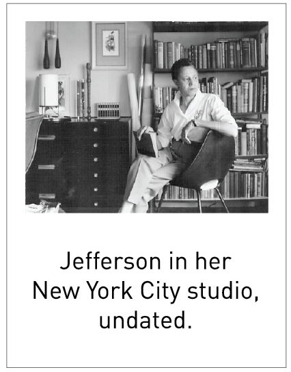 Jefferson in her New York City studio, undated.