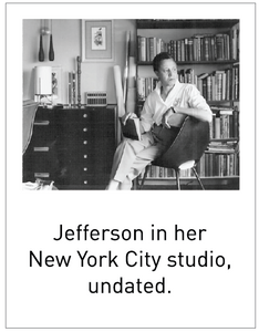 Jefferson in her New York City studio, undated.