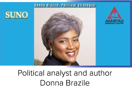 Political analyst and author Donna Brazile