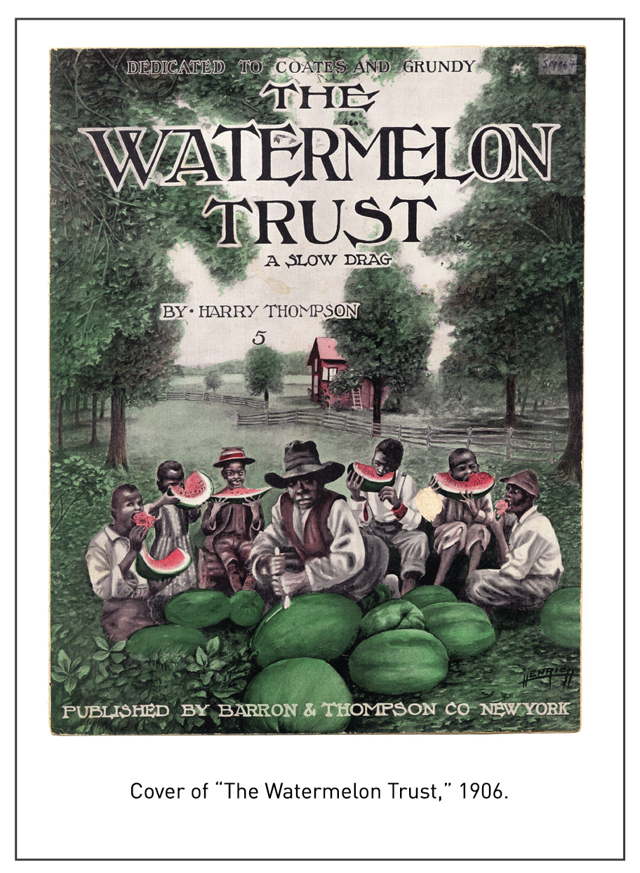 "Cover of ""The Watermelon Trust,"" 1906."