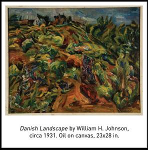 Danish Landscape by William H. Johnson, circa 1931. Oil on canvas, 23x28 in.