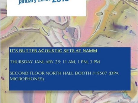 "DA Music Artist ""It's Butter"" performing live at NAMM Thursday January 25th."