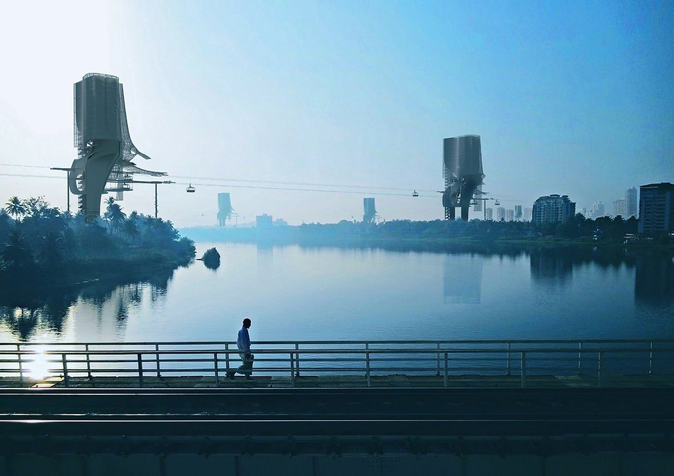 Barry Wark Architect flood towers bioph
