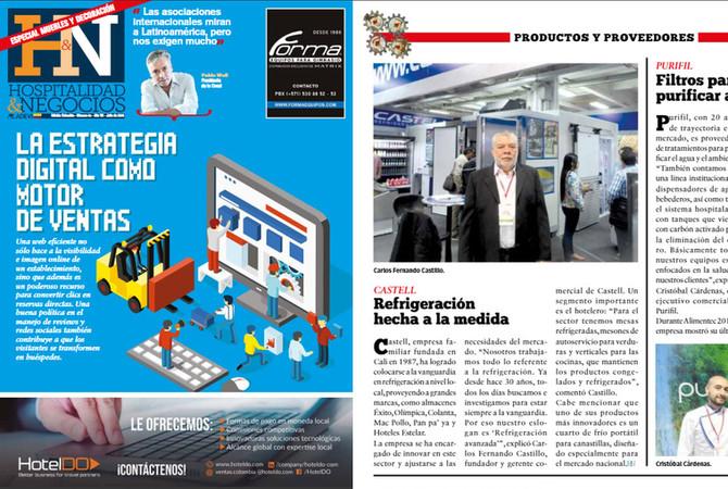Entrevista a nuestro Gerente Comercial Carlos Castillo, agradecemos a la revista HyN.