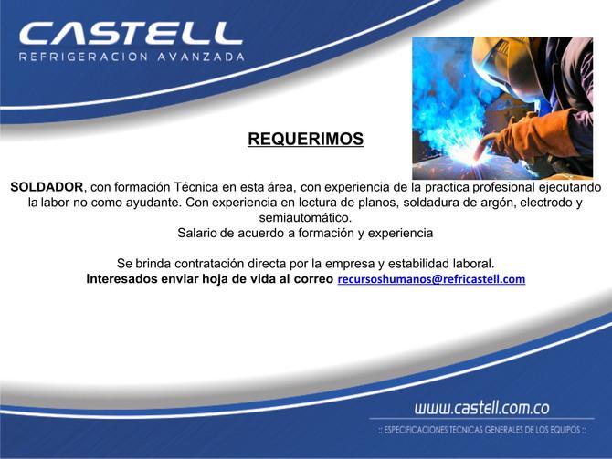 #OportunidadDeEmpleo  Requerimos #Soldador con formación técnica.
