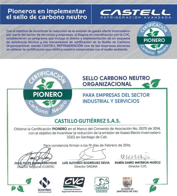 PIONEROS EN CERTIFICACIÓN DE CARBONO NEUTRO