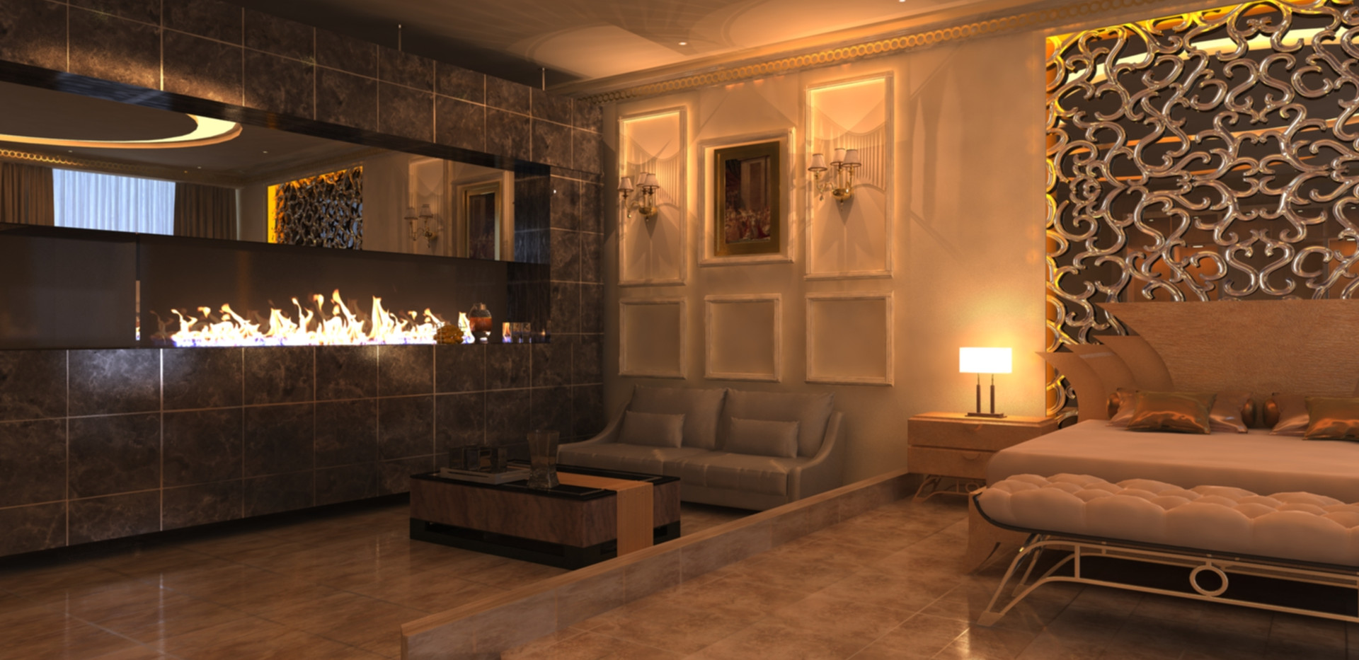 Fire Place bedroom