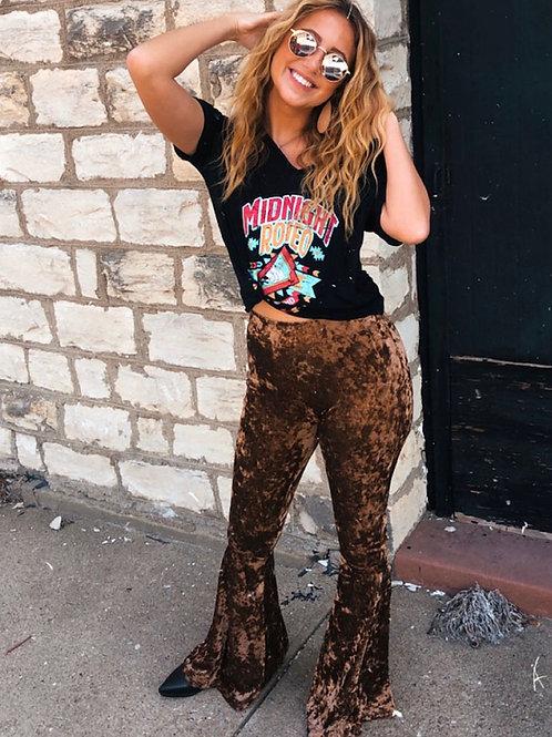 Rock & Roll Cowgirl Velvet Bell Leggings