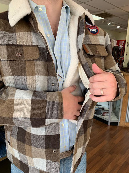 Cinch Men's Plaid Concealed Carry Wool Sherpa Jacket
