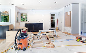 Custom kitchen cabinets in various stage