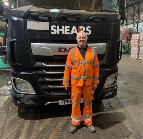 Gary Johnson with his Shears truck