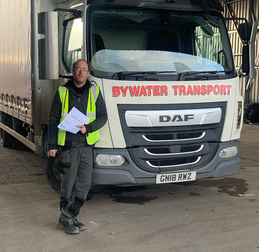 Rick Stepney with his Bywater Transport vehicle