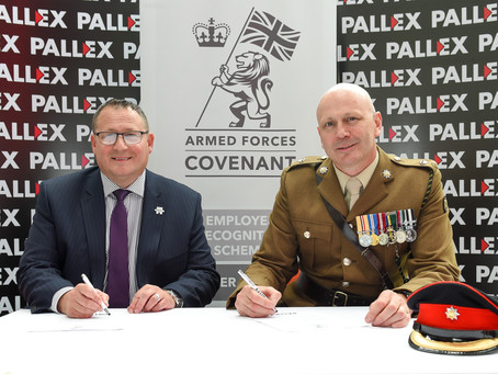 Pall-Ex signs the Armed Forces Covenant.
