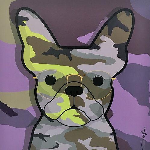 Camo Frenchie- Purple