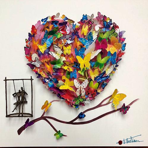 Heart Butterfly Branch