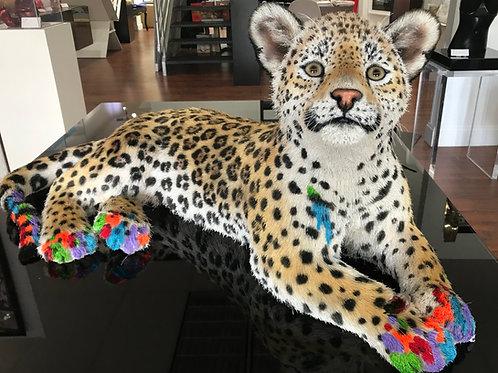 """Dersie"" Jaguar Cub Sculpture"