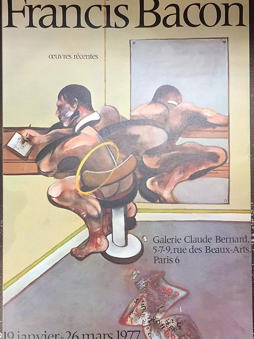 Figure writing Reflected in Mirror (Represented Lover George Dyer)