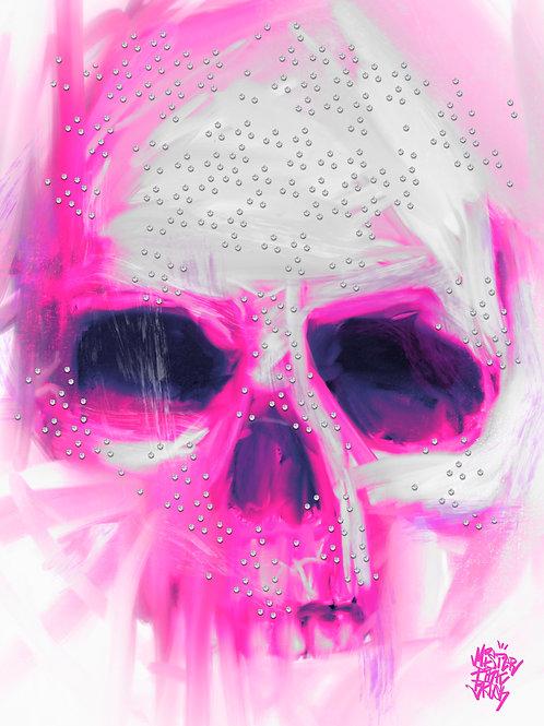 Pink Sparkle Diamond Skull