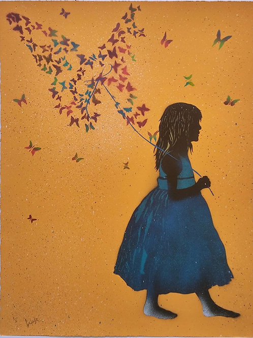The butterfly collector (orange)