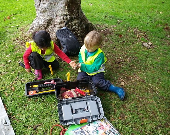 Use of tools at Auckland Nature Kindergarten