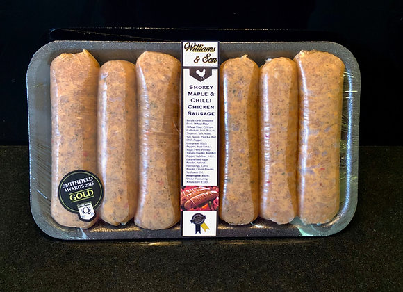 Smokey Maple & Chilli Chicken Sausage Pack