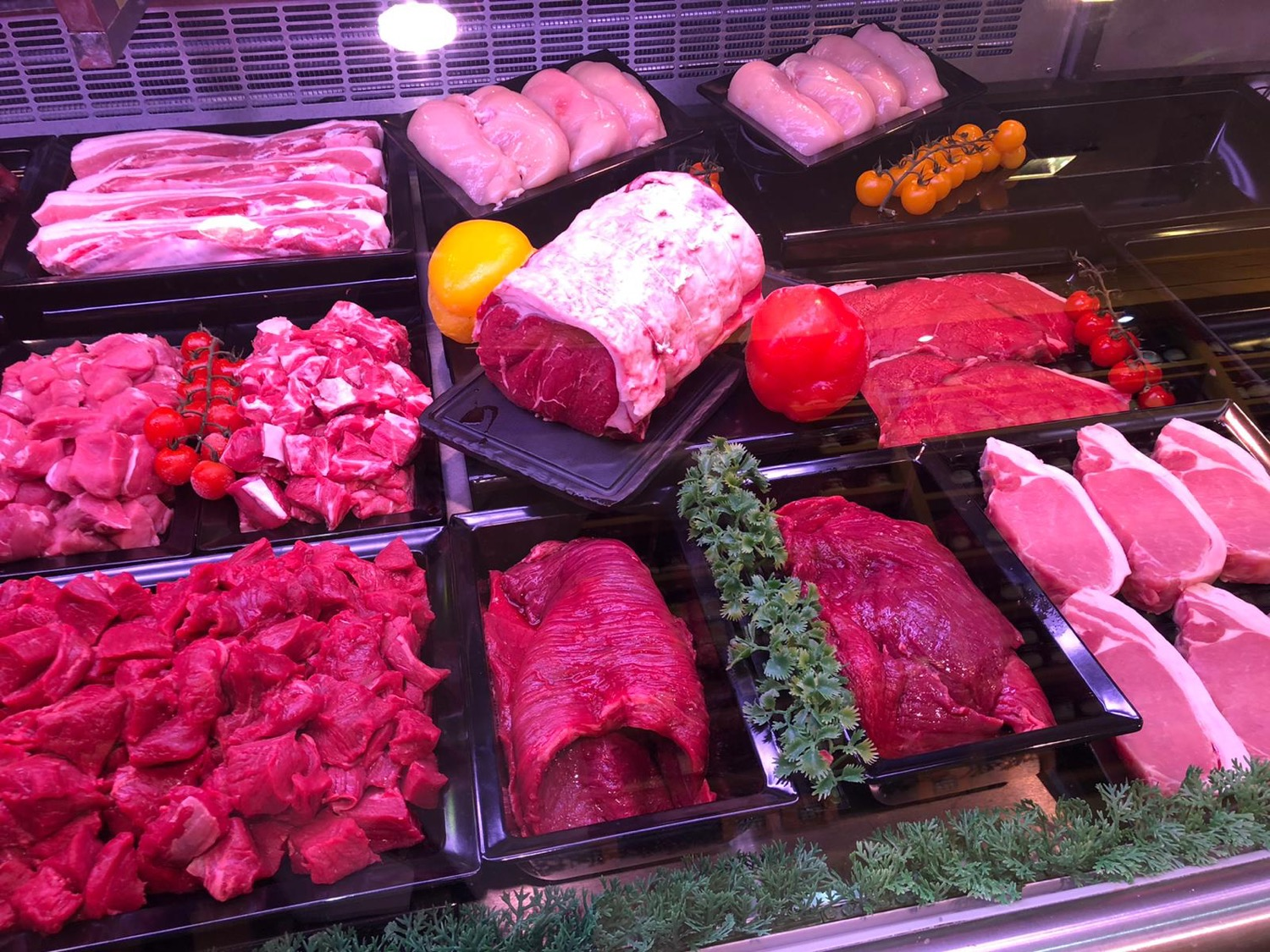 Williams & Son Butchers Meat Display
