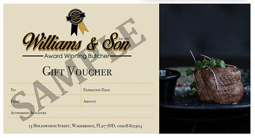 Williams Gift Voucher