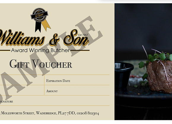 Williams Gift Voucher