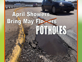 April Showers Bring May...POTHOLES!