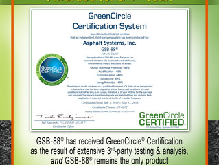 GSB-88® received 4th GreenCircle® Certification!