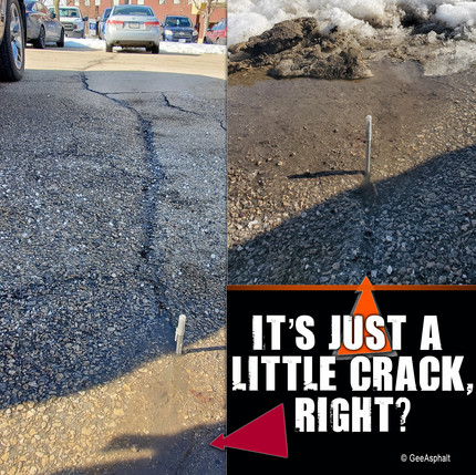 It's just a little crack, right?