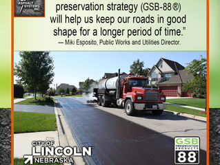 Lincoln, NE is pleased with GSB-88® and Gee.