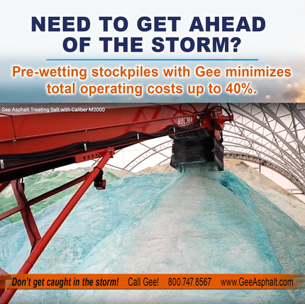 Minimize costs by Pre-wetting stockpiles