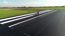 Airport tarmac striping