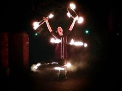 4 Fire hula hoops -Juggling Inferno